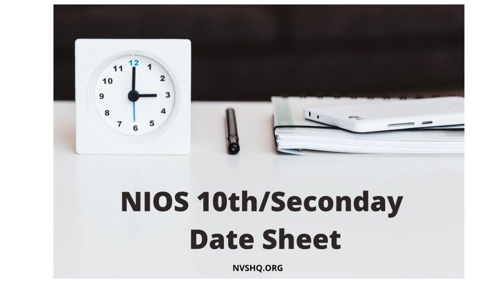 NIOS-10th-Date-Sheet-2020