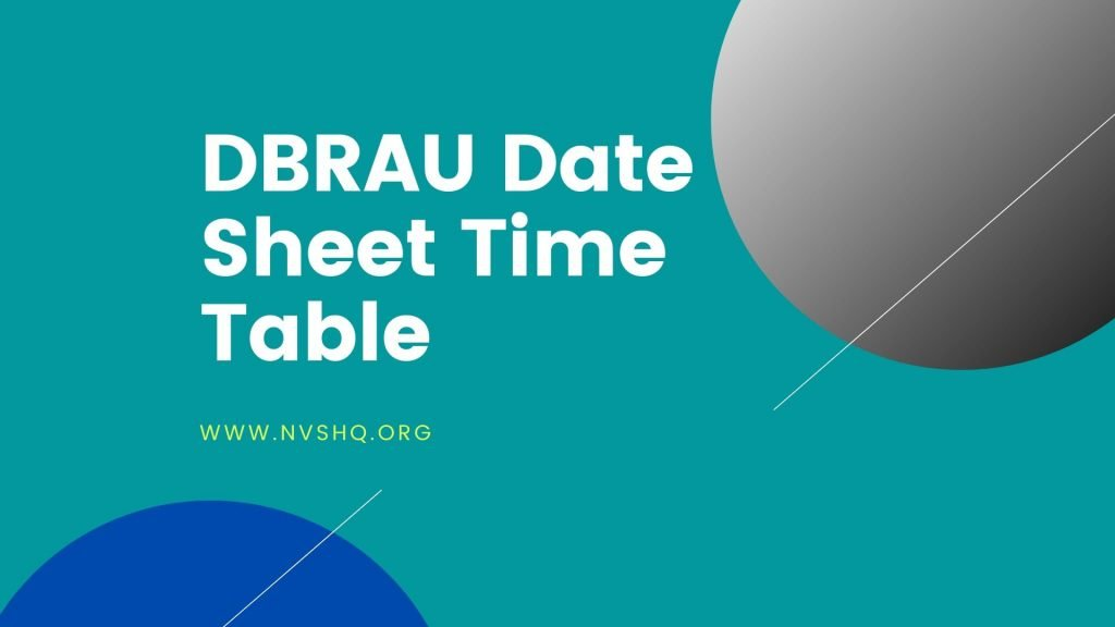DBRAU Date Sheet