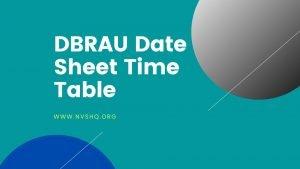 DBRAU-Date-Sheet-Time-Table