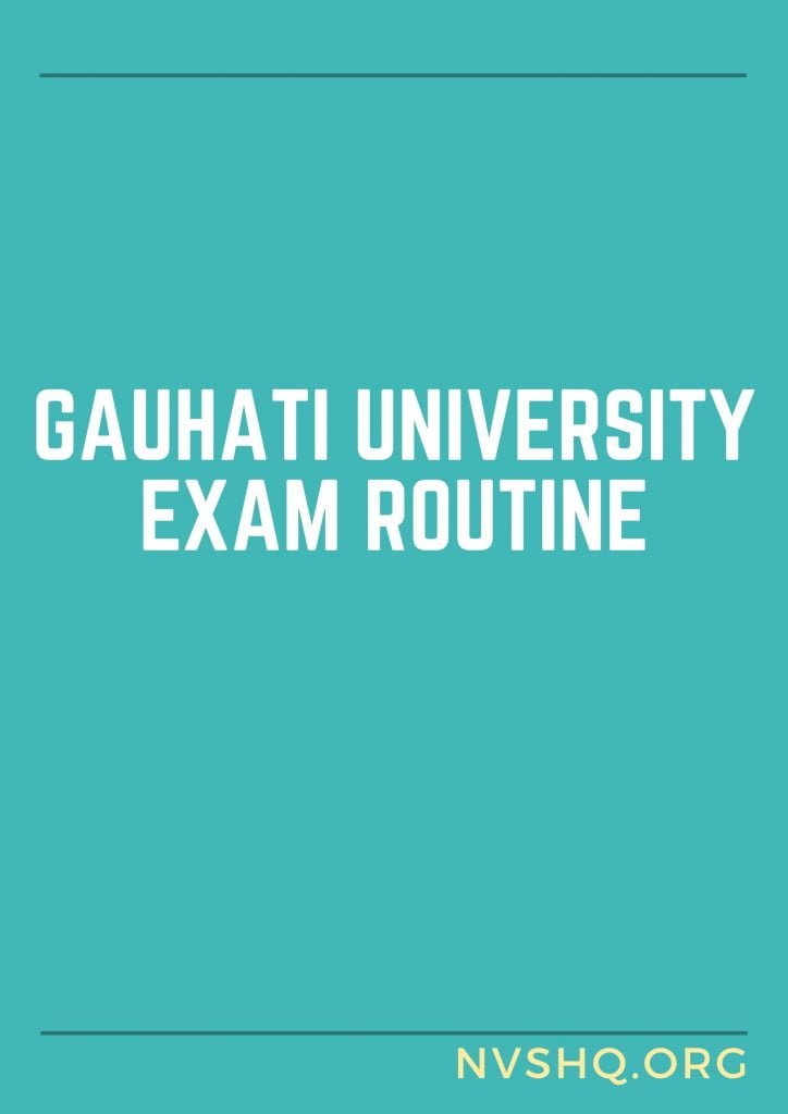 Gauhati-University-Exam-Routine-2020-Time-Table-UG-Degree-Exam-Date-Sheet