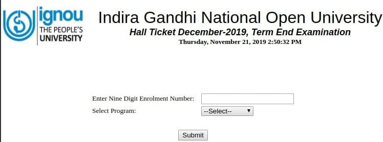 IGNOU-TEE-2020-HALL-TICKET