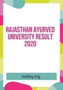 Rajasthan-Ayurved-University-Result-2020
