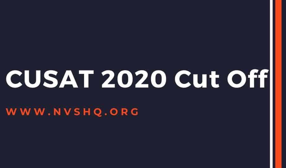 CUSAT-2020-Cut-Off