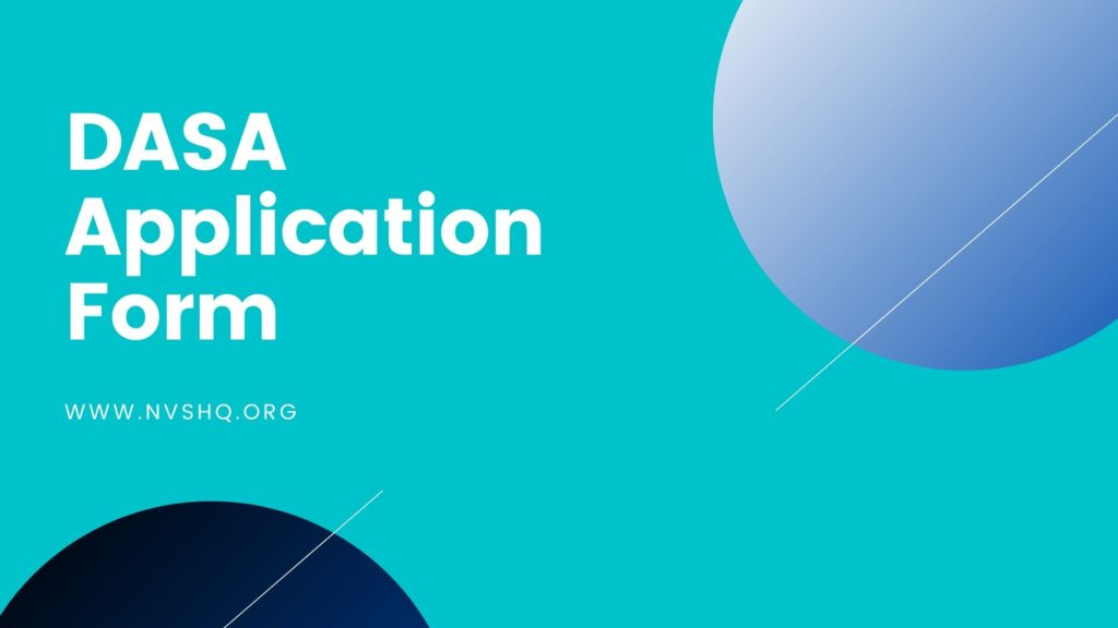 DASA Application Form