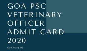 Goa-PSC-Veterinary-Officer-Admit-Card-2020