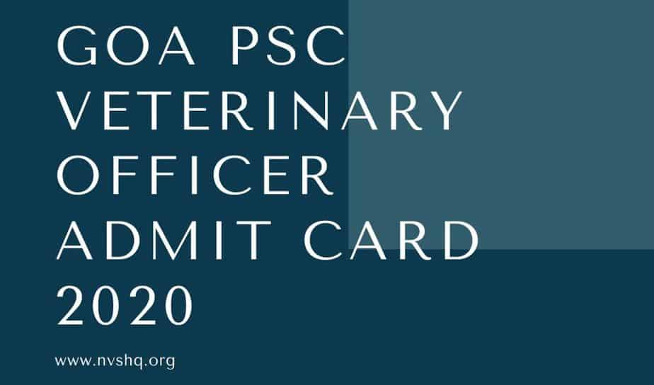 Goa-PSC-Veterinary-Officer-Admit-Card-2020