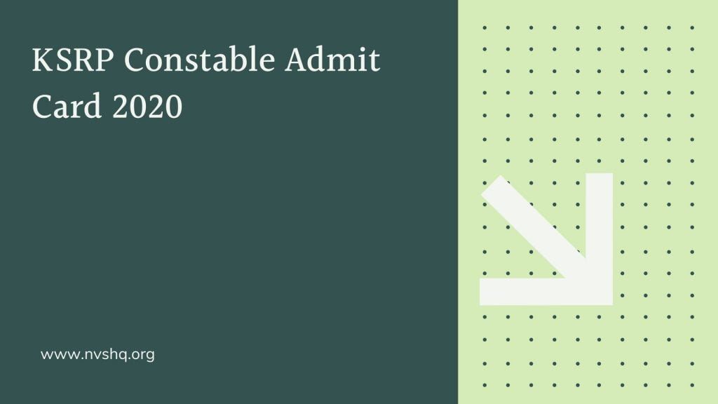KSRP-Constable-Admit-Card-2020