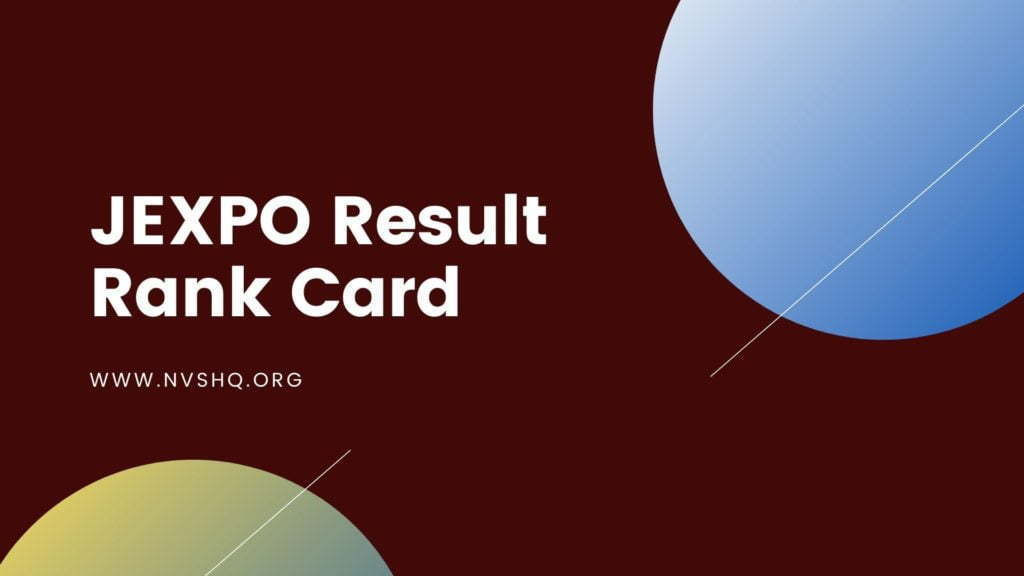 JEXPO Result Rank Card
