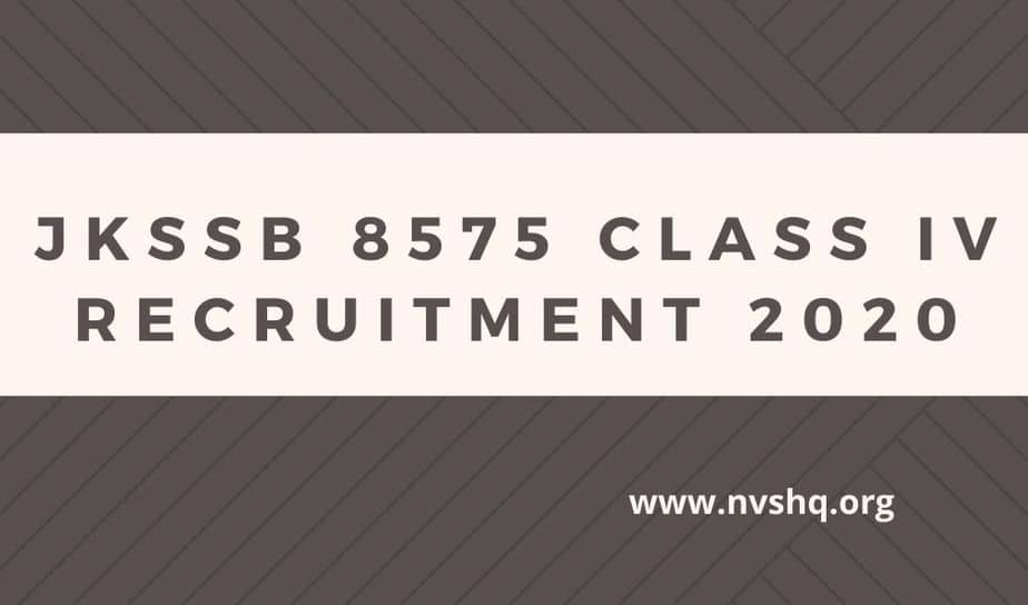 JKSSB-Class-4-2020-recruitment