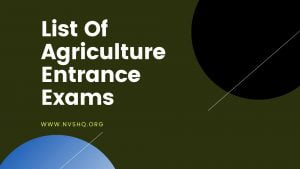 List-Of-Agriculture-Entrance-Exams