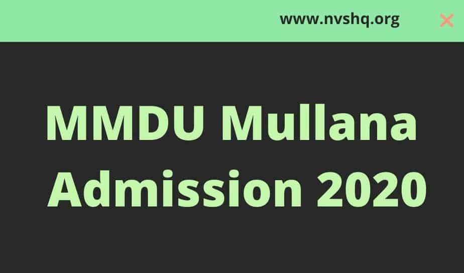MMDU-Mullana-Admission-2020