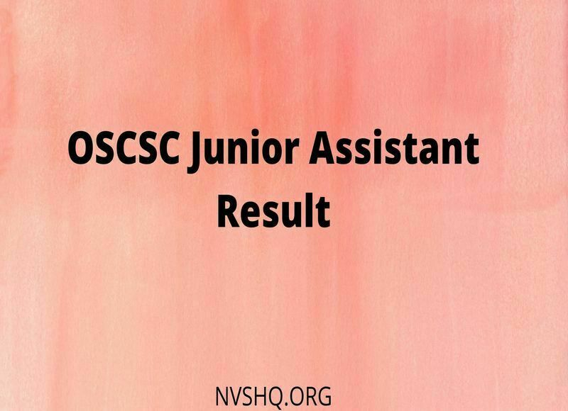 OSCSC Junior Assistant Result