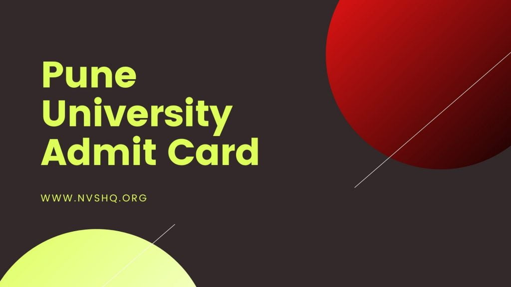 Pune University Admit Card