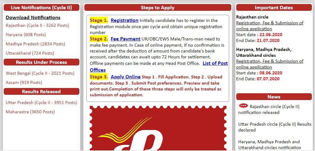 Rajasthan-GDS-Recruitment-Application-Form-2020