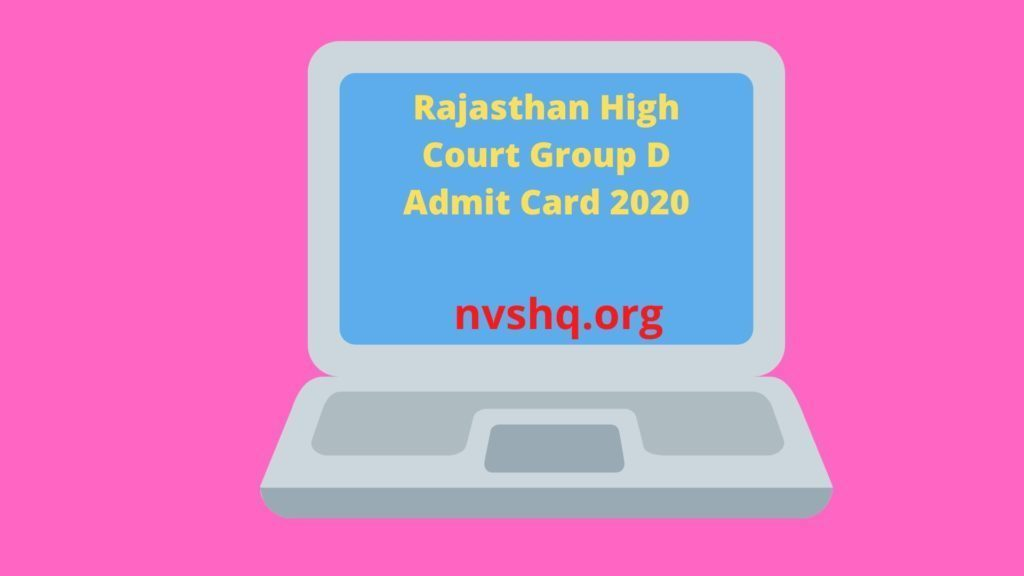 Rajasthan-High-Court-Group-D-Admit-Card-2020
