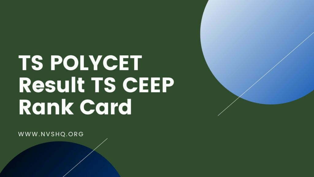 TS POLYCET Result TS CEEP Rank Card
