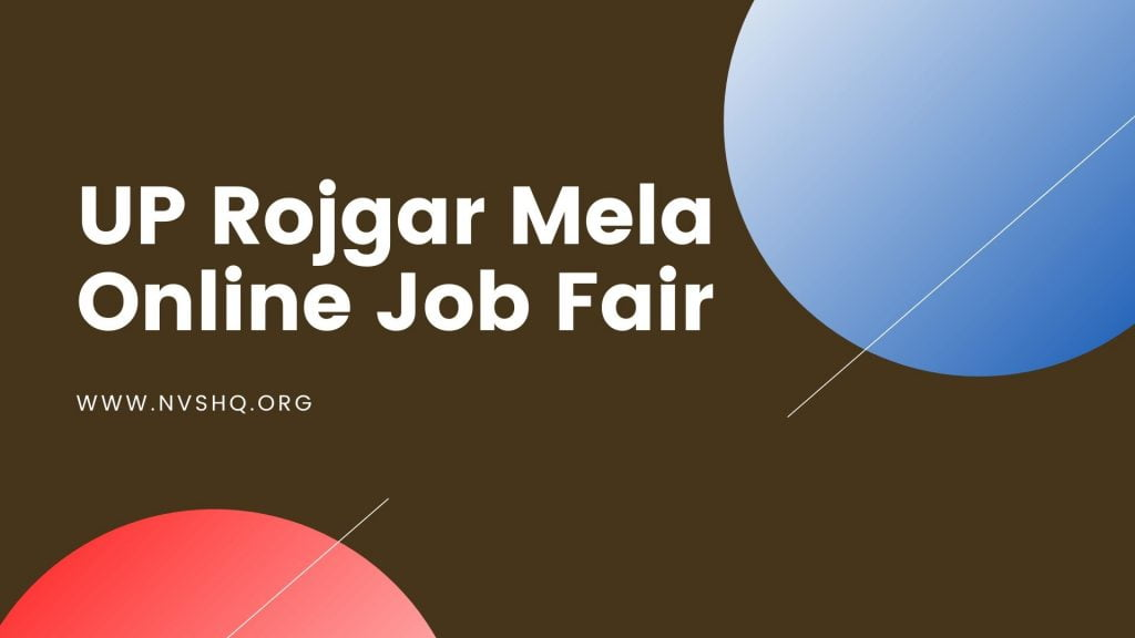 UP Rojgar Mela Online Job Fair