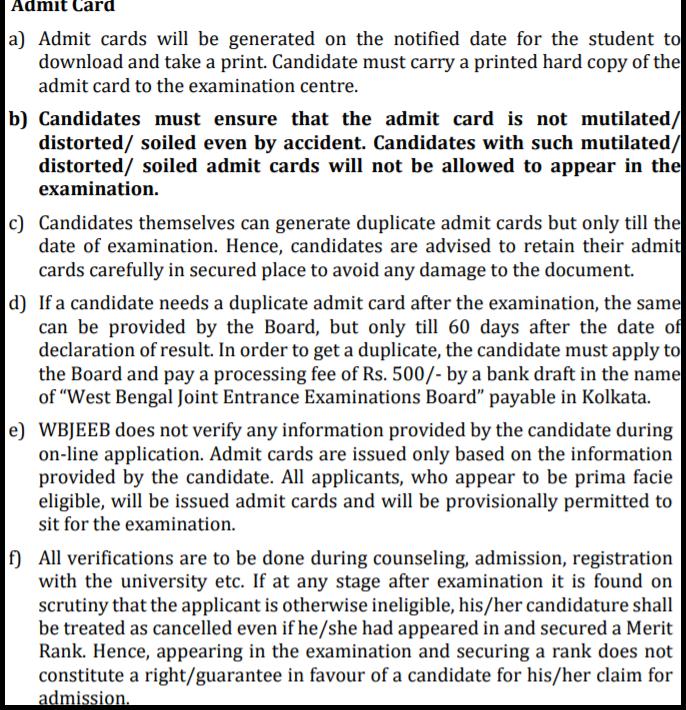 WB-JEEDEC-2020-Admit card