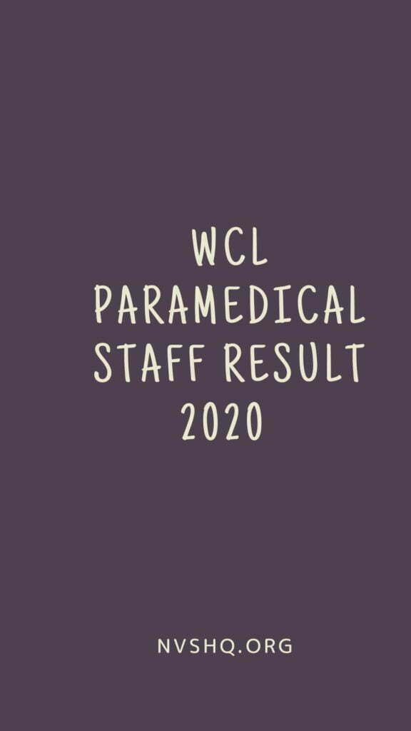 WCL-Paramedical-Staff-Result-2020