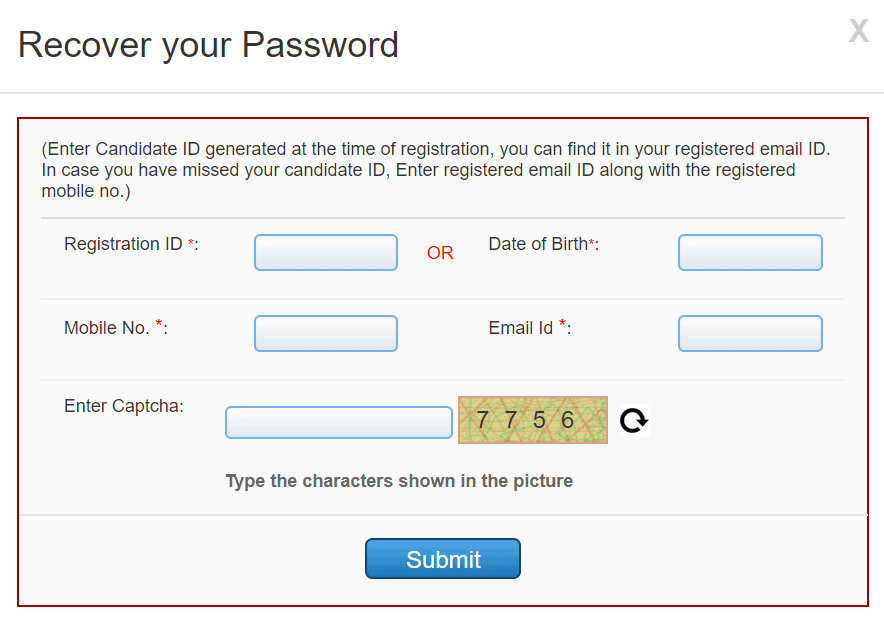 aiims-pg-recover-your-password