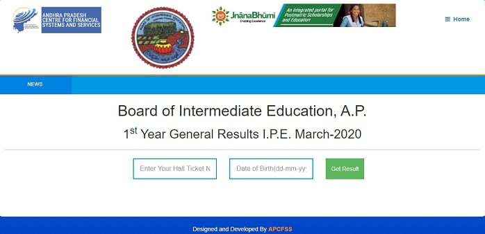 ap ist year general result 2020