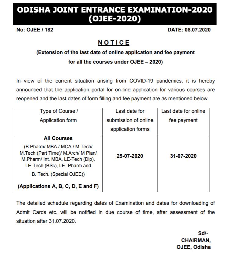 odisha-ojee-application-form