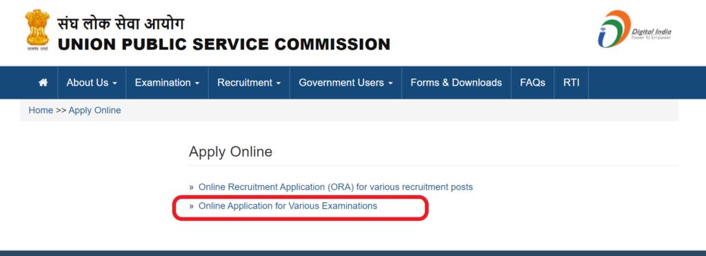 upsc-nda-online-application