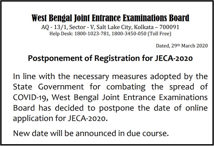 wbjee-jeca-2020-notice
