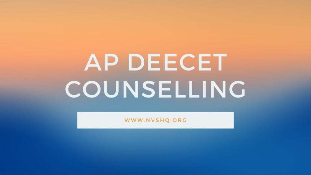 AP DEECET Counselling 1st Round