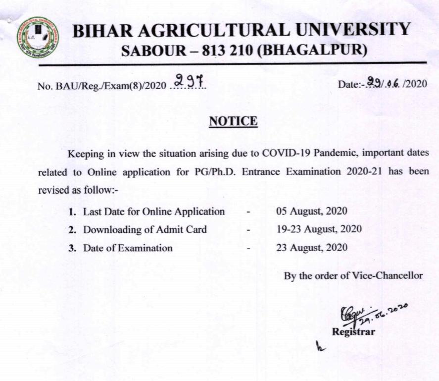 Bihar -gricultural-University-notice-2020