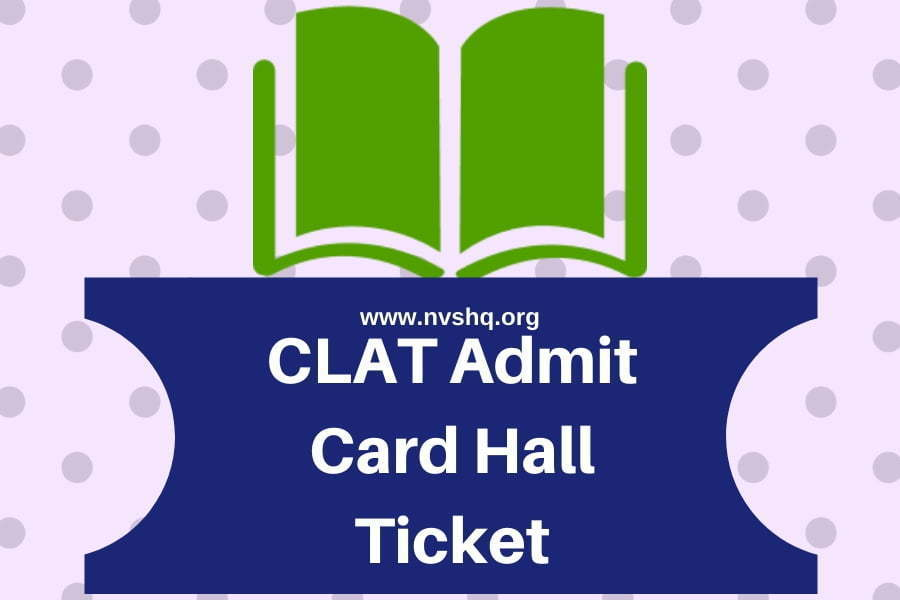 CLAT Admit Card Hall Ticket