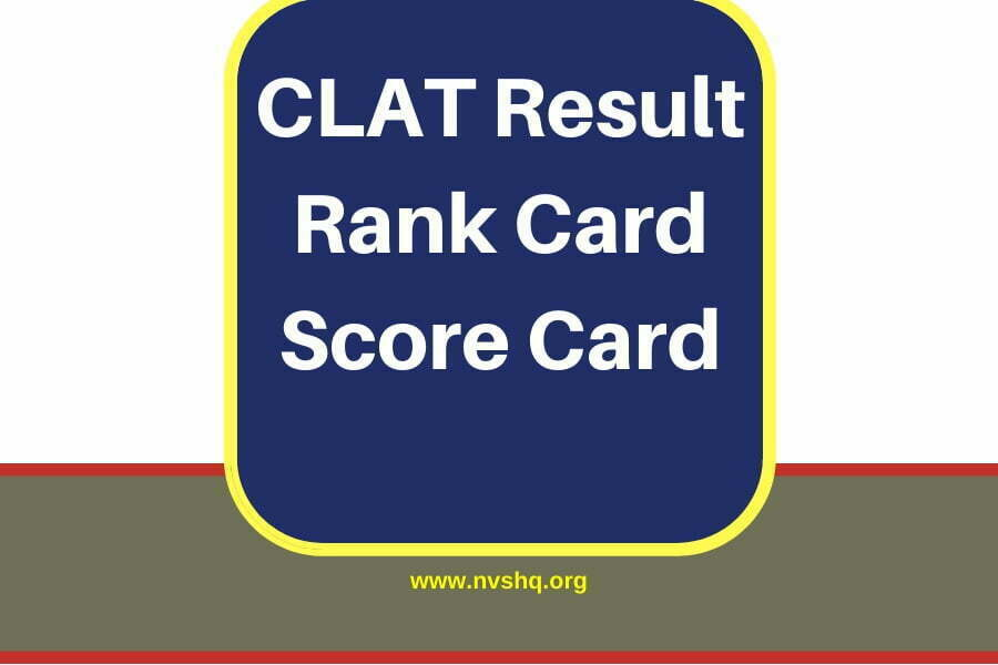 CLAT Result Score Card Rank Card