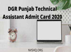 DGR_Punjab_Admit_Card_2020