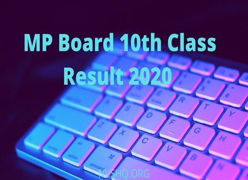 mpresults.nic.in Result 2020 HSC