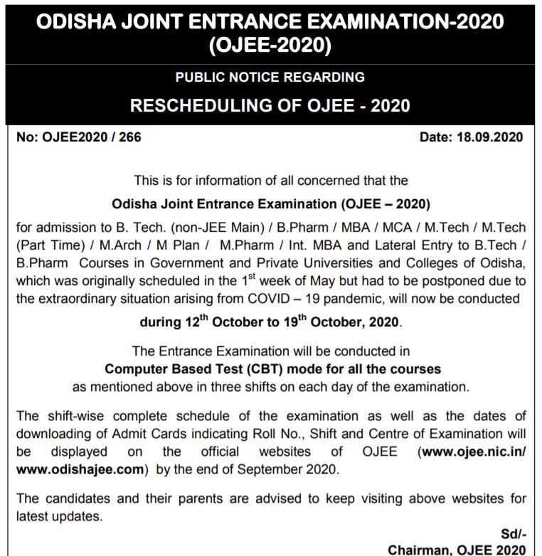 OJEE-NEW-EXAM-DATE-2020