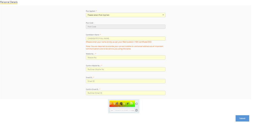 AAI-Junior-Executive-online-form