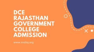 DCE-Rajasthan-Government-College-Admission-Form