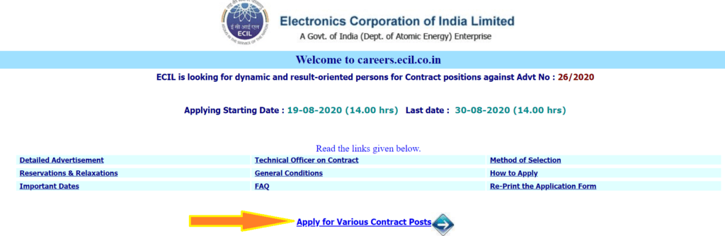 ECIL-RECRUITMENT-ONLINE-PROCESS