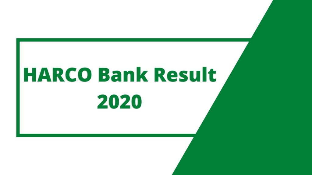 HARCO-Bank-Result