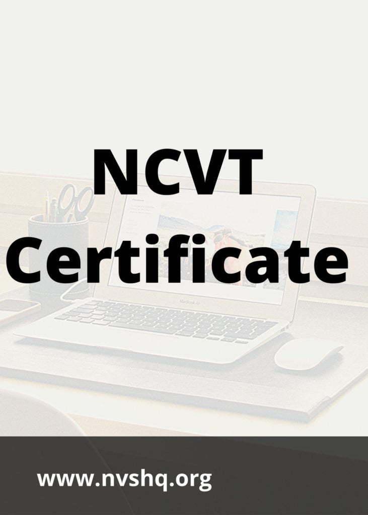 NCVT-Certificate