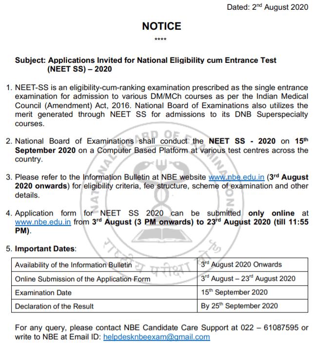 NEET-SS-2020-Notice