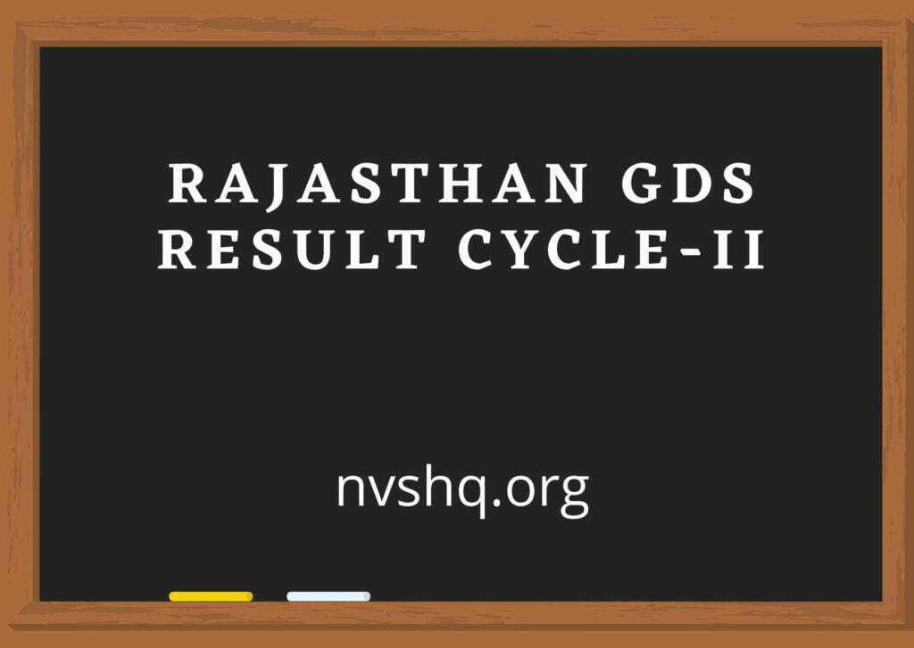 Rajasthan-GDS-Result-2020-Date-Merit-List-Pdf-Cycle-II-Gramin-Dak-Sevak