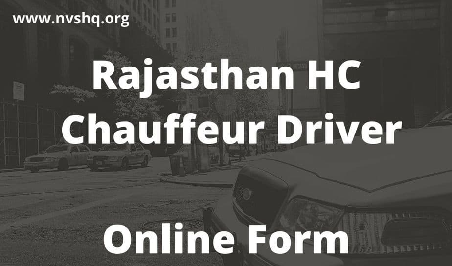 Rajasthan-HC-Chauffeur-Driver-Online-Form-2020