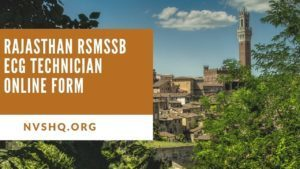 Rajasthan-RSMSSB-ECG-Technician-Online-Form-2020-Application-Eligibility-Dates
