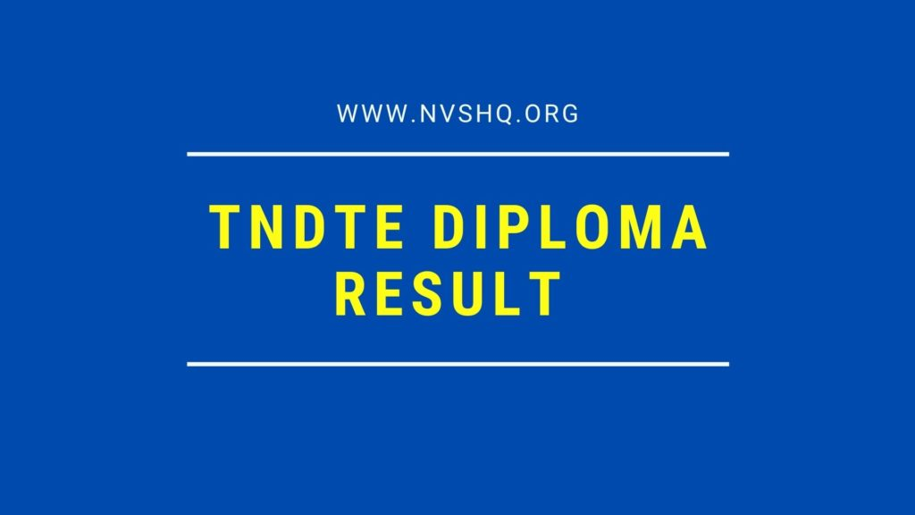 TNDTE Diploma Result