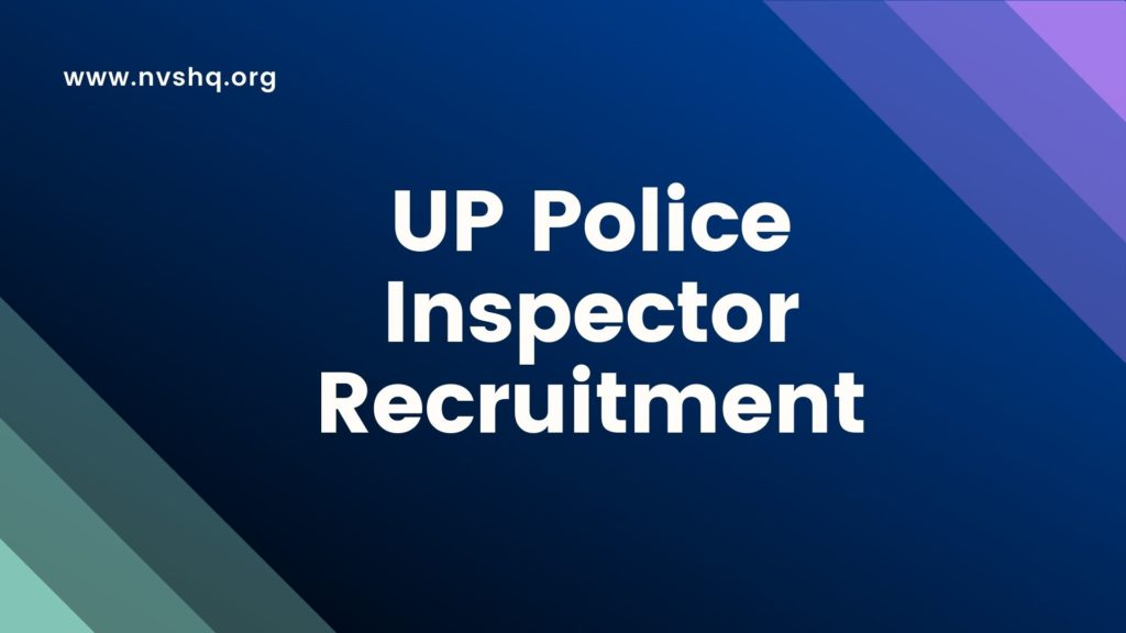 UP Police Inspector 6130 Posts Recruitment