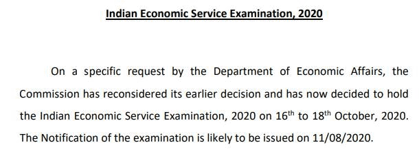 UPSC-IES-2020-notice