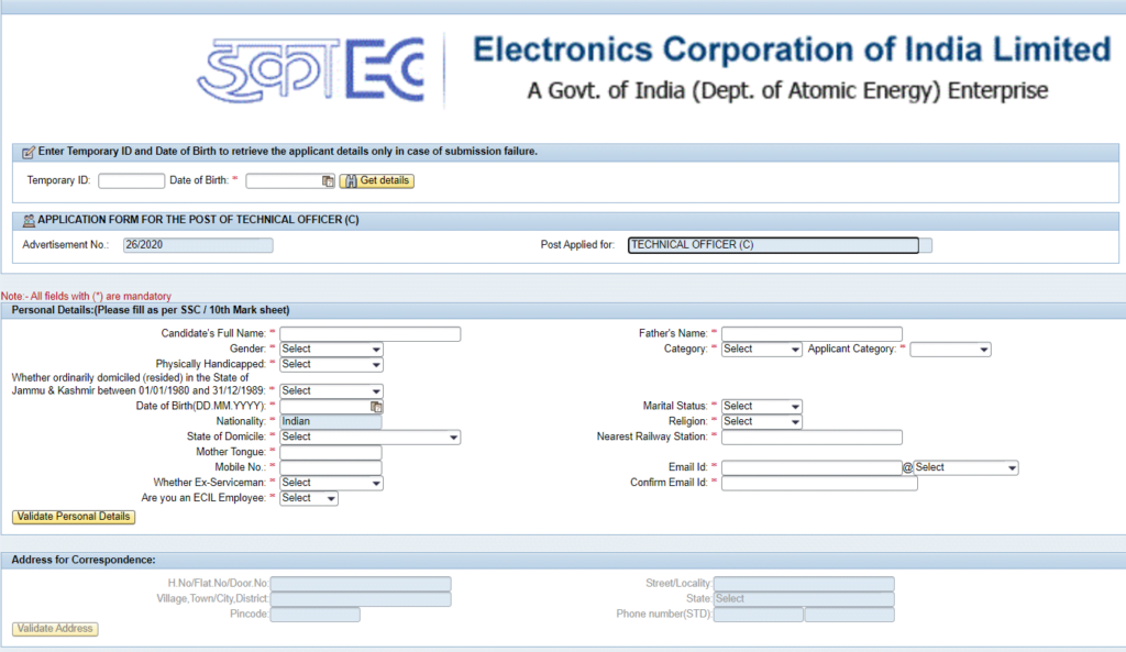 ecil-recruitment-2020-sample-registration-form