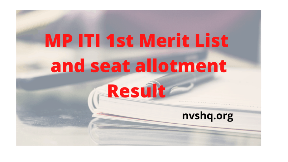 mp-iti-1st-merit-list-2020