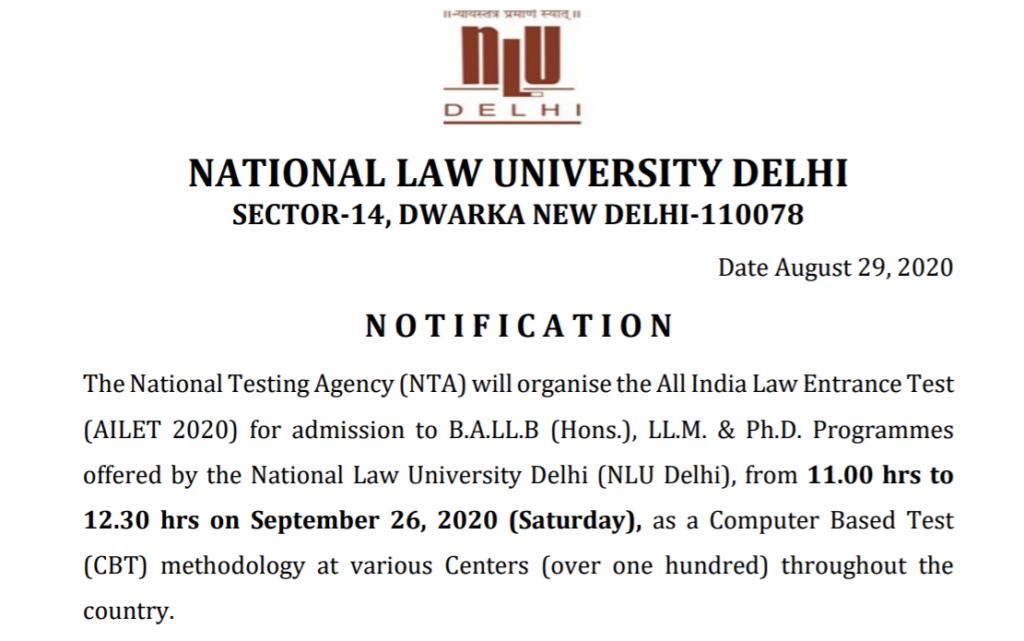 nlu-delhi-latest-exam-schedule